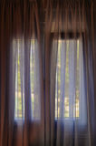 Closed window curtain Stock Photo