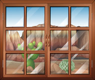 A closed window at the desert Royalty Free Stock Photography