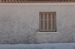Closed window in Greece Royalty Free Stock Image
