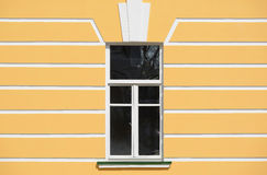 Closed window in the old building. Royalty Free Stock Photo