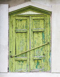 Closed window of an old house Royalty Free Stock Image