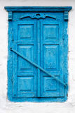 Closed window of an old house.  Royalty Free Stock Image