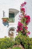 Closed window and open birdcage in Santa Catalina monastery Areq Royalty Free Stock Photography