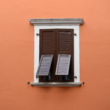 Closed window and partly open Stock Image