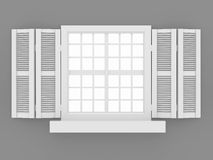 Closed window and shooters Royalty Free Stock Image