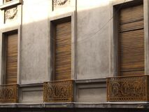 closed-window-shutters Royalty Free Stock Photos