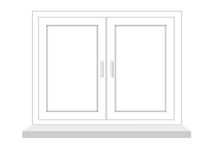 Closed window on a white background, it is isolated Royalty Free Stock Images