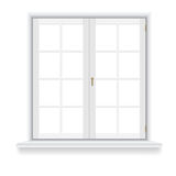 Closed window on white background Stock Images