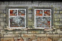 Closed windows stock photo