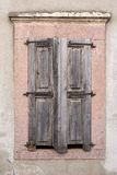 Closed windows of a traditional house in Ayvalik, Turkey Stock Photo