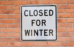 Closed for Winter Royalty Free Stock Image