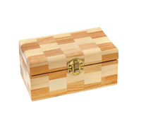 Closed  wood  box isolated Royalty Free Stock Images