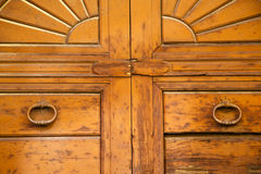In a   closed wood door venegono  varese italy Stock Photography