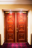 Closed wood doors Stock Photography