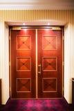 Closed wood doors Stock Photography