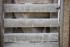 Closed wood gate Stock Photos