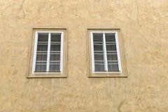 Closed wood window Stock Photo