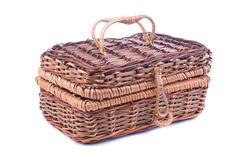 Closed wooden basket Stock Photos