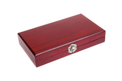 Closed wooden box, isolated Royalty Free Stock Image