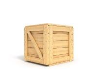 Closed wooden box Royalty Free Stock Photos