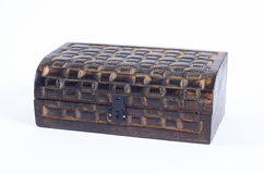 Closed wooden box Royalty Free Stock Photos