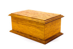 Closed wooden box Stock Image