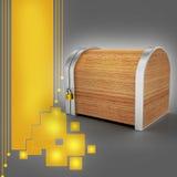 Closed wooden box with padlock Royalty Free Stock Photos