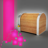 Closed wooden box with padlock Royalty Free Stock Image