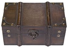 Closed wooden box Royalty Free Stock Images