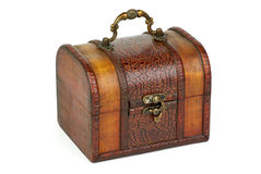 Closed wooden chest Royalty Free Stock Photo