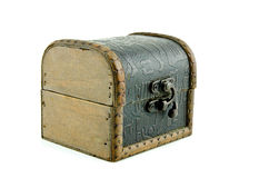 Closed wooden chest  box Royalty Free Stock Photos