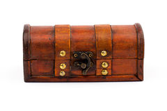 Closed wooden chest Stock Image
