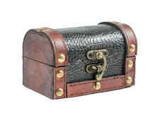 Closed wooden chest Royalty Free Stock Photography