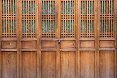 Closed wooden door Stock Image