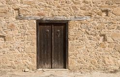 Closed Wooden Door Royalty Free Stock Photography