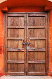 Closed wooden and door Royalty Free Stock Images