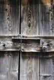 Closed wooden door Stock Image