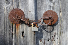 Closed wooden door Royalty Free Stock Photo