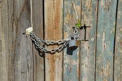 Closed wooden door Stock Images