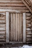Front view of the log house Stock Photography