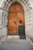 Closed wooden gate, Tallinn, Estonia, Europe Royalty Free Stock Photos