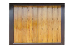 Closed wooden partition panel Royalty Free Stock Image