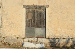 Closed wooden shutter. On window,Kefalonia,Greece Stock Photography