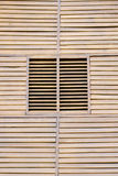 Closed wooden shutters Stock Image