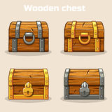 Closed wooden treasure chest Royalty Free Stock Photos