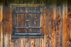 Closed wooden window Royalty Free Stock Photo