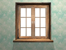 Closed wooden window Royalty Free Stock Photography
