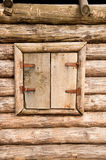 Closed wooden window Stock Photo