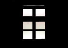 Closed wooden window Royalty Free Stock Image
