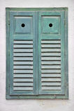 Closed wooden window shutters Royalty Free Stock Photo